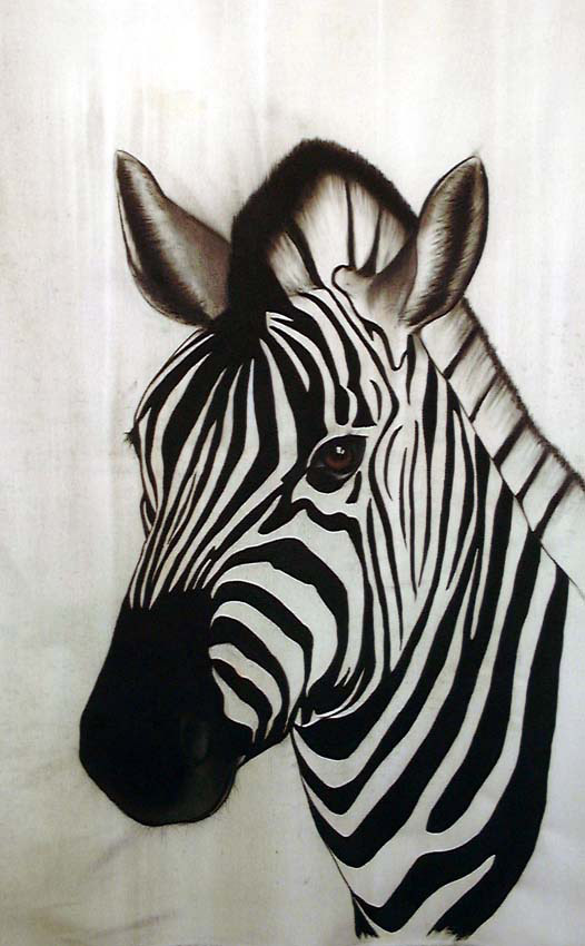 Zebre Zebra Thierry Bisch Animal Painter Threatened Species