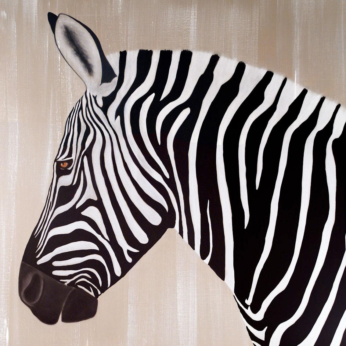 Zebra 14 Zèbre Thierry Bisch Artiste Peintre Animaux Espèces Menacées