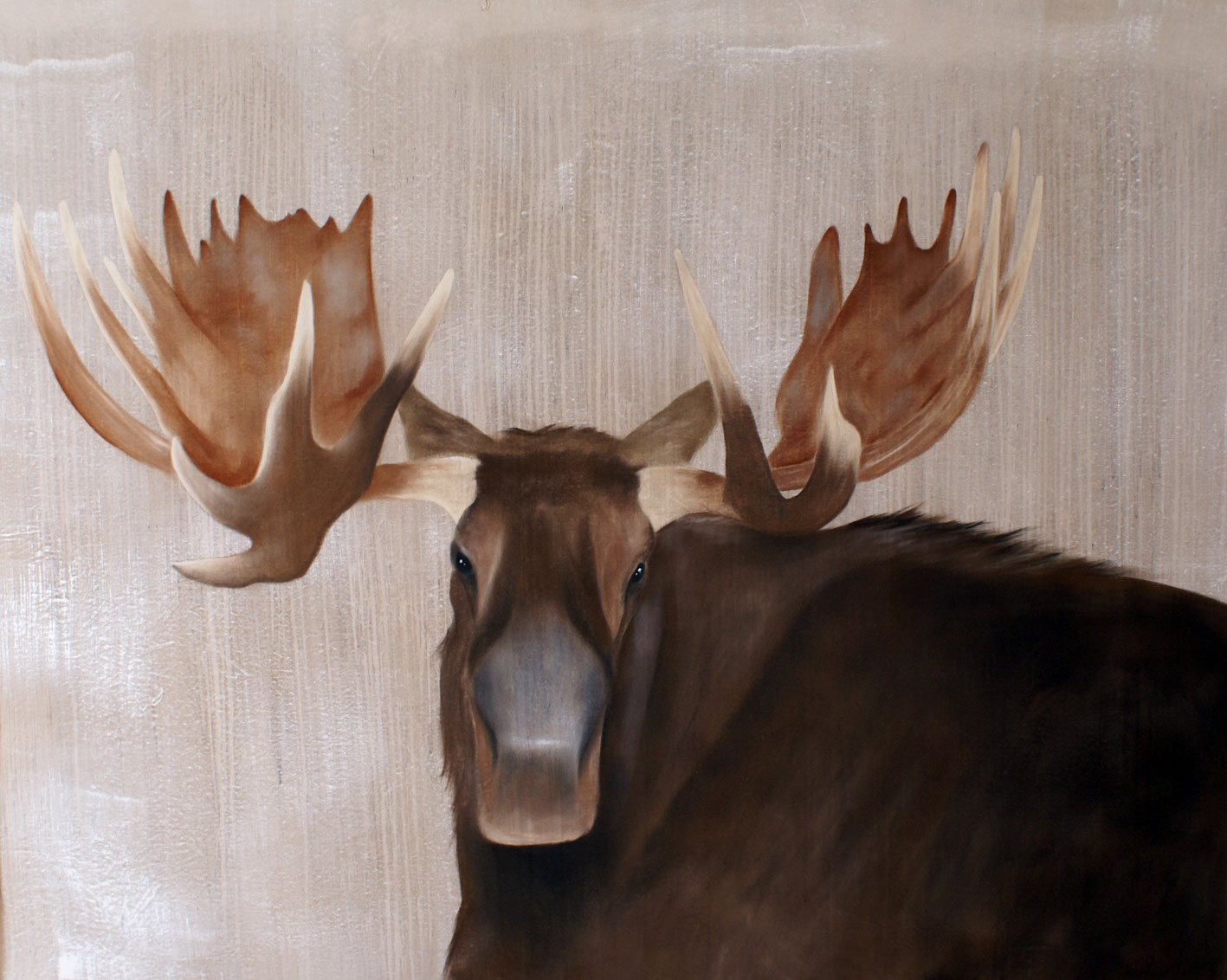 MOOSE MOOSE-ORIGNAL Thierry Bisch painter animals painting art decoration hotel design interior luxury nature biodiversity conservation