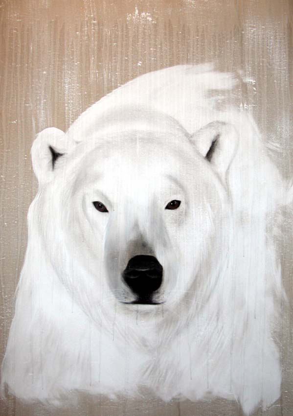 Polar bear 5 polar bear thierry bisch animal painter for Ikea plaid polaire blanc