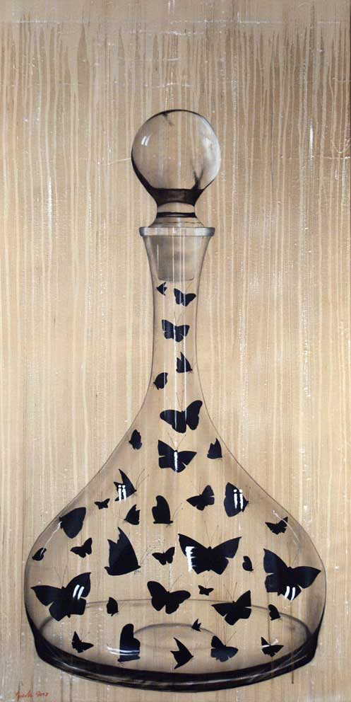 TWS-A -Carafe-butterfly Thierry Bisch painter animals painting art decoration hotel design interior luxury nature biodiversity conservation