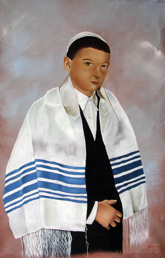 Daniel Bar-Mitzvah-child-portrait-religious-rituals Thierry Bisch painter animals painting art decoration hotel design interior luxury nature biodiversity conservation