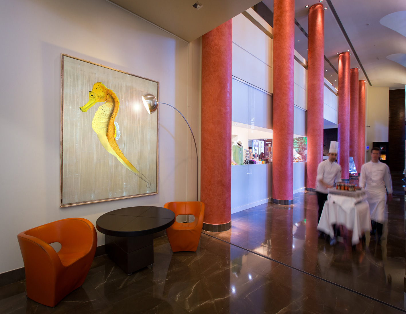 HOTEL MONTE-CARLO BAY seahorse-threatened-endangered-extinction Thierry Bisch painter animals painting art decoration hotel design interior luxury nature biodiversity conservation