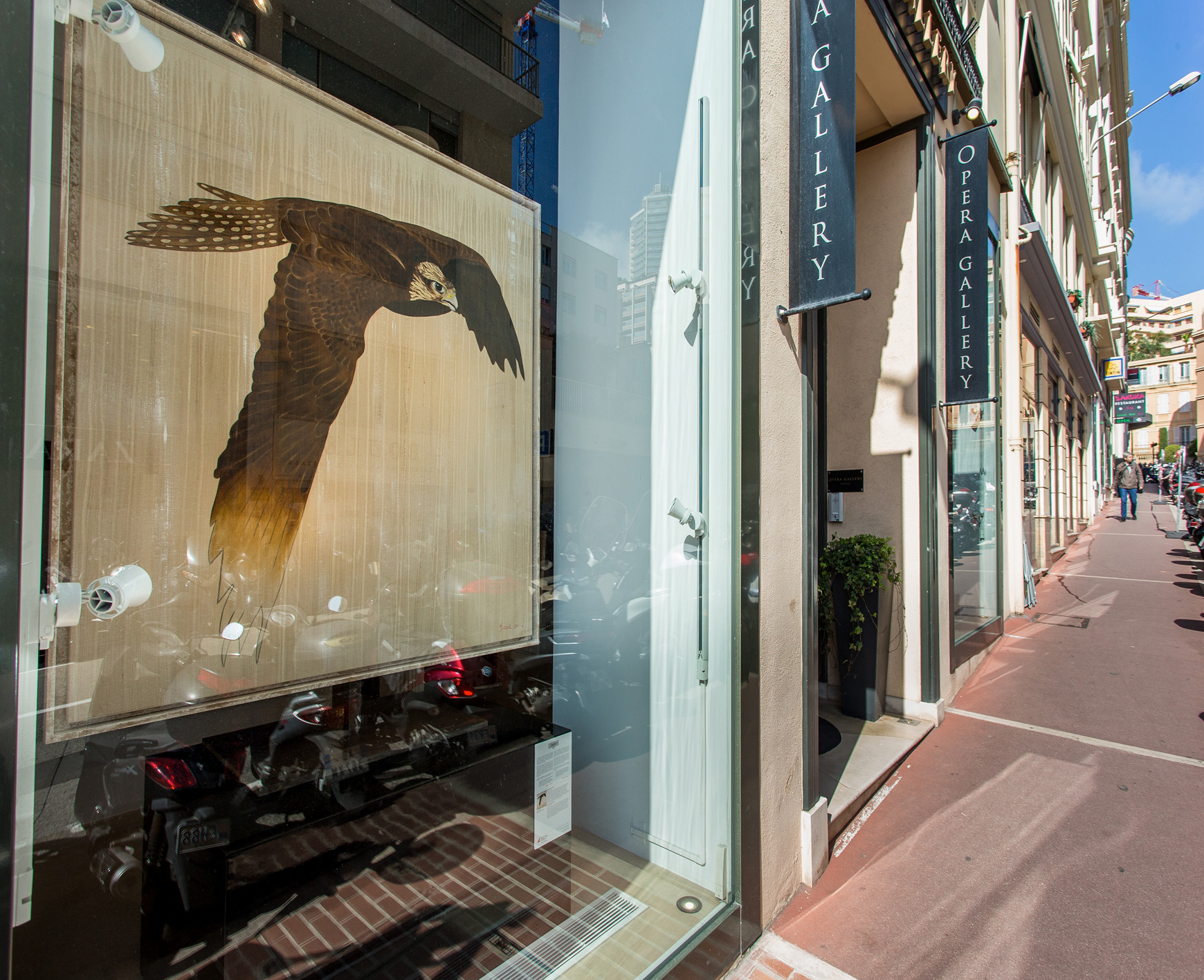 OPERA GALLERY MONACO saker-falcon-falco-cherrug-threatened-endangered-extinction Thierry Bisch painter animals painting art decoration hotel design interior luxury nature biodiversity conservation