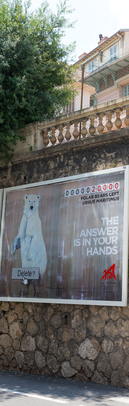 affiche ours ursus-maritimus-polar-bear-white-threatened-endangered-extinction Thierry Bisch painter animals painting art decoration hotel design interior luxury nature biodiversity conservation