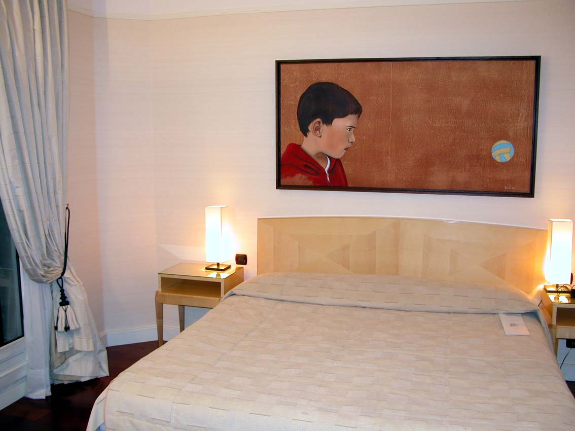 Hotel Lutetia Paris - Suite des Enfants-Chambre child-portrait Thierry Bisch painter animals painting art decoration hotel design interior luxury nature biodiversity conservation