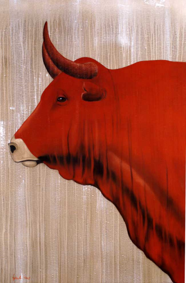 Red-bull-10 Red-bull Thierry Bisch painter animals painting art decoration hotel design interior luxury nature biodiversity conservation