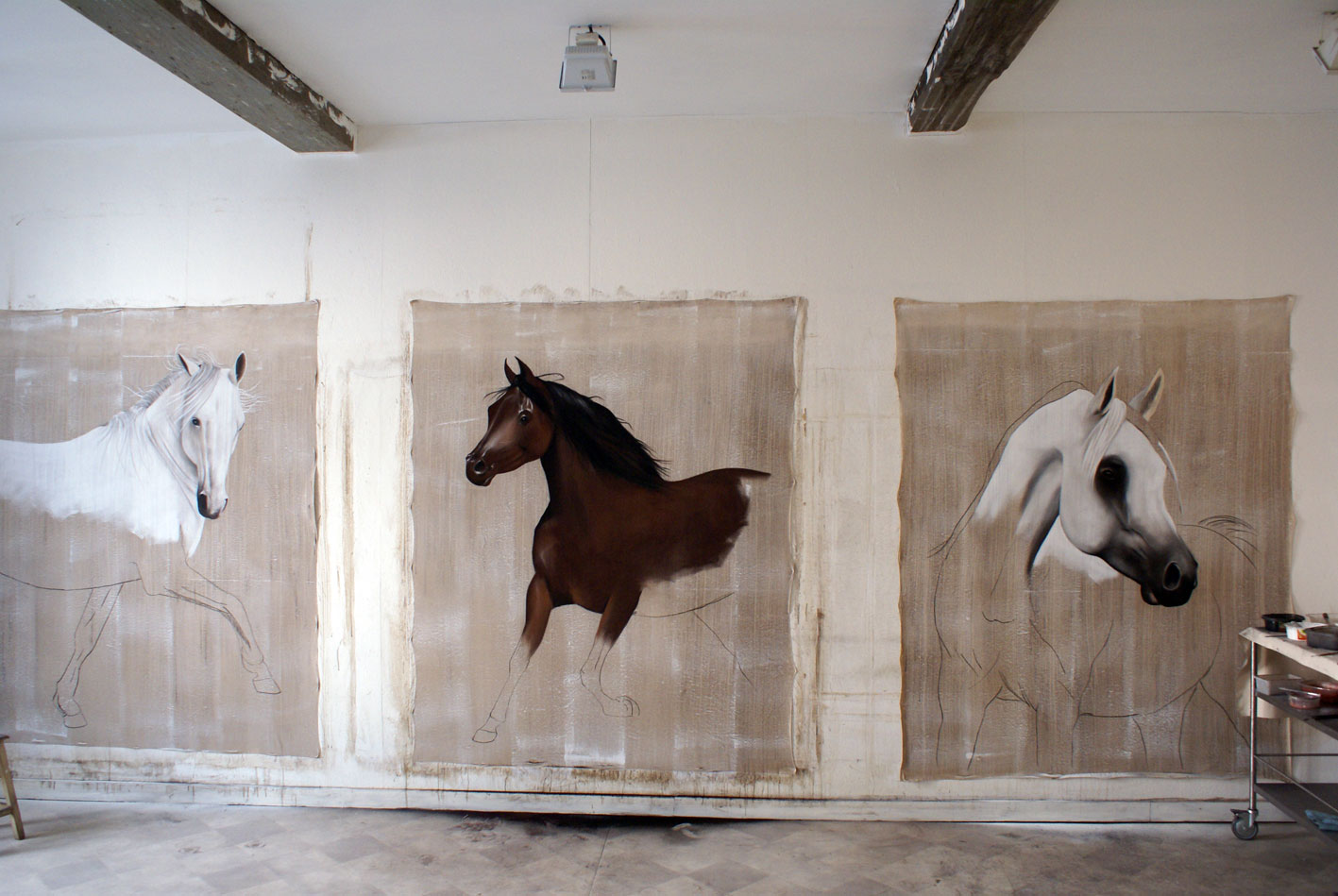 PSA 2 arabian-thoroughbred-horse- Thierry Bisch Contemporary painter animals painting art  nature biodiversity conservation
