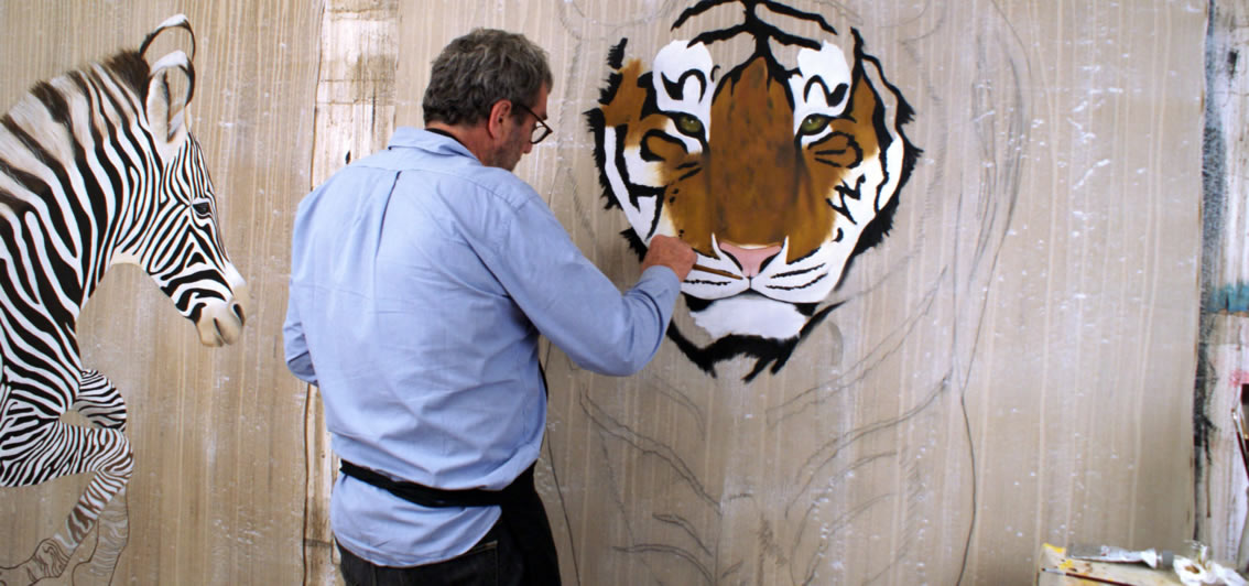 PANTHERA TIGRIS studio panthera-tigris-tiger-royal-delete-threatened-endangered-extinction-thierry-bisch Thierry Bisch painter animals painting art decoration hotel design interior luxury nature biodiversity conservation
