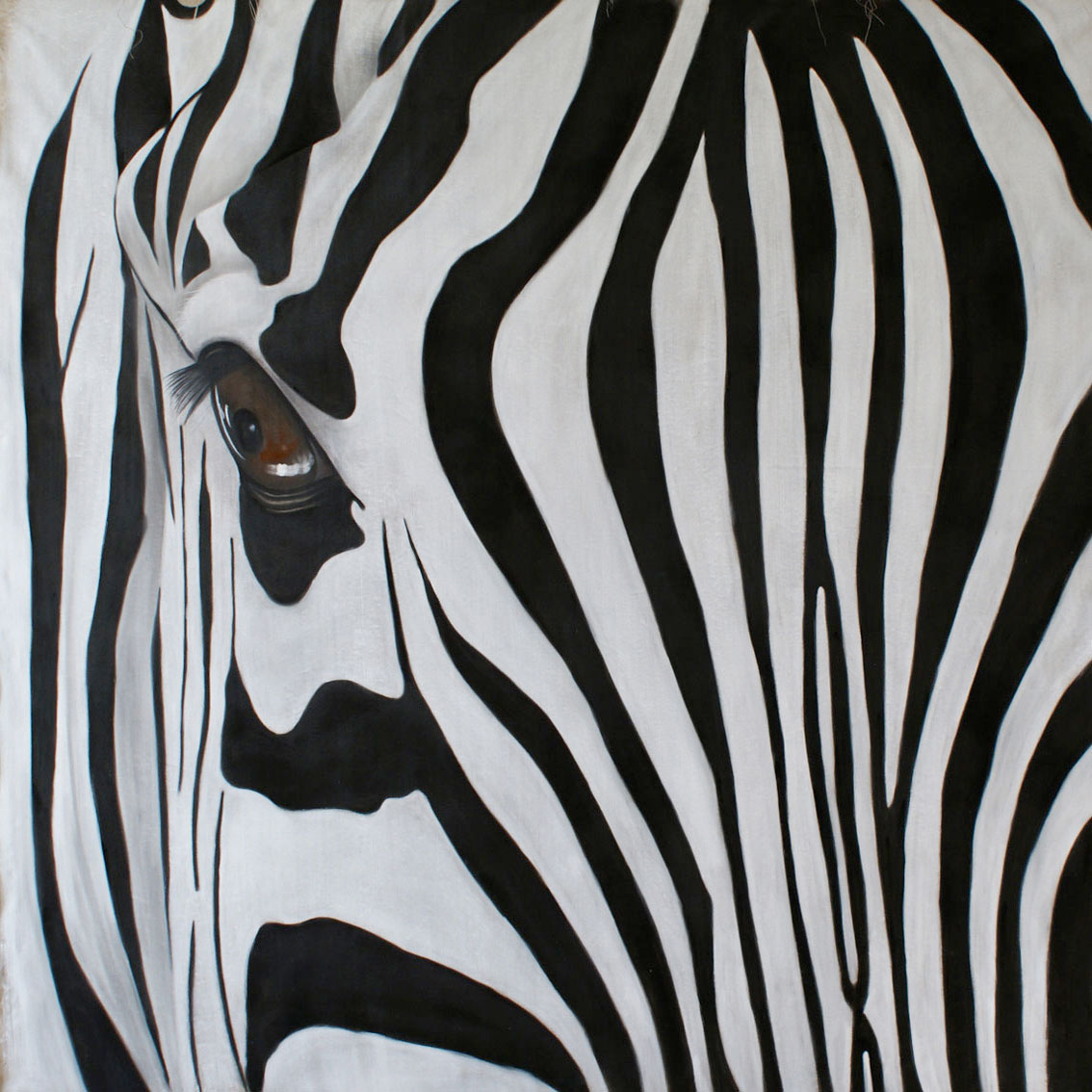 Zebre zebra thierry bisch animal painter threatened species for Decoration zebre