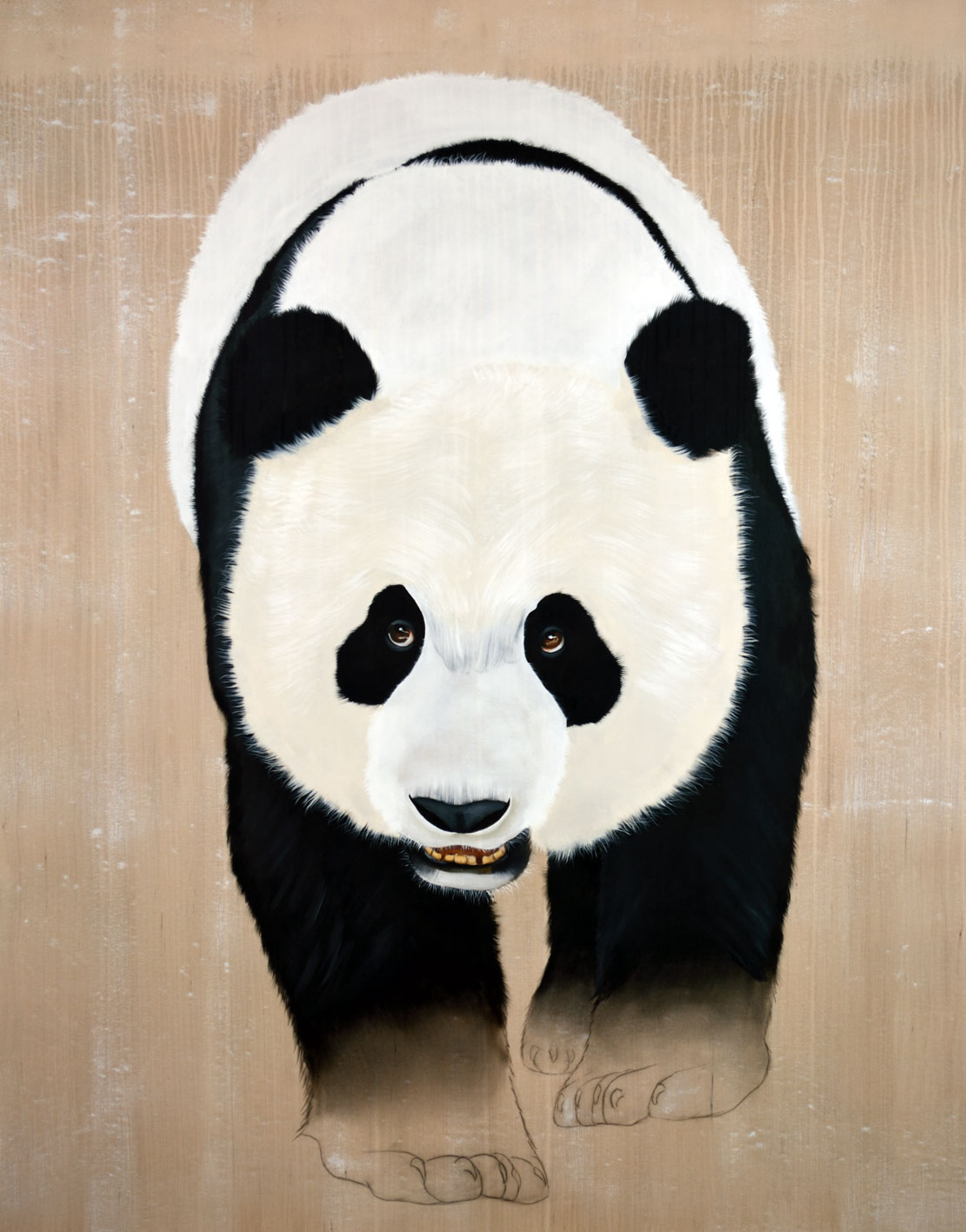 AILUROPODA MELANOLEUCA panda-giant-ailuropoda-melanoleuca-threatened-endangered-extinction Thierry Bisch painter animals painting art decoration hotel design interior luxury nature biodiversity conservation