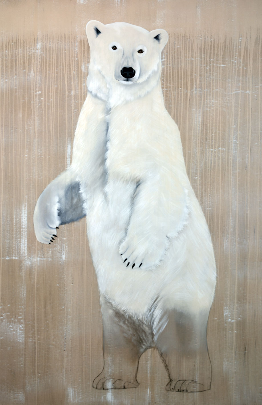URSUS MARITIMUS divers Thierry Bisch Contemporary painter animals painting art decoration nature biodiversity conservation
