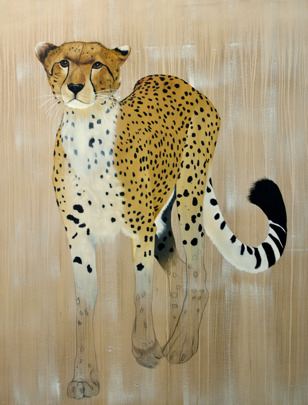 ACINONYX JUBATUS acinonyx-jubatus-cheetah-delete-threatened-endangered-extinction- Thierry Bisch painter animals painting art decoration hotel design interior luxury nature biodiversity conservation