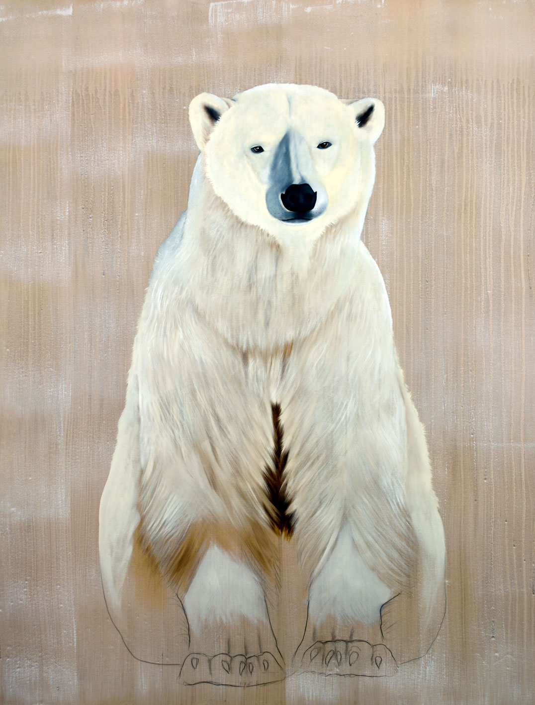 URSUS MARITIMUS ursus-maritimus-polar-bear-delete-threatened-endangered-extinction Animal painting by Thierry Bisch pets wildlife artist painter canvas art decoration