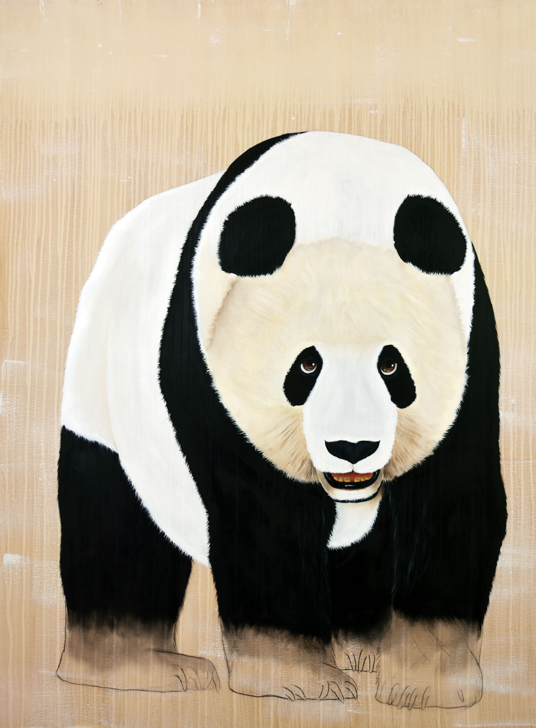 AILUPURODA-MELANO-LEUCA panda-giant-ailupuroda-melano-leuca-delete-threatened-endangered-extinction Thierry Bisch painter animals painting art decoration hotel design interior luxury nature biodiversity conservation
