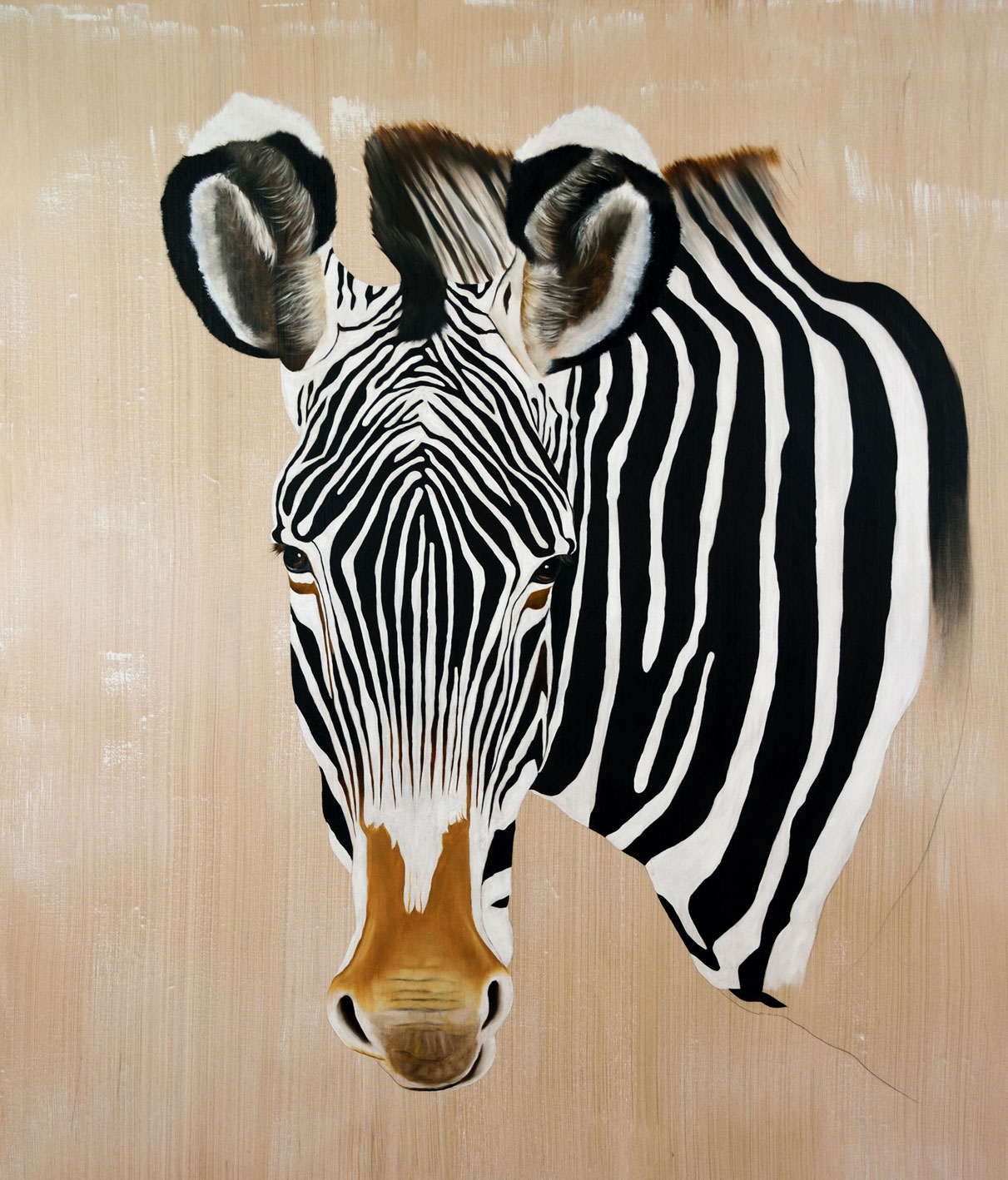 EQUUS-GREVYI divers Thierry Bisch painter animals painting art decoration hotel design interior luxury nature biodiversity conservation