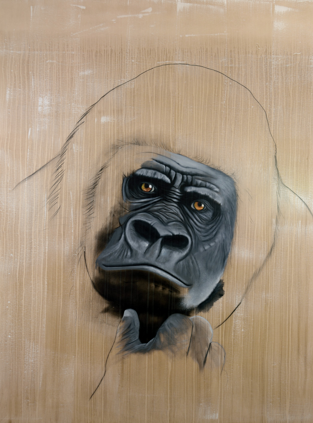 GORILLA-GORILLA gorilla-delete-threatened-endangered-extinction Thierry Bisch painter animals painting art decoration hotel design interior luxury nature biodiversity conservation