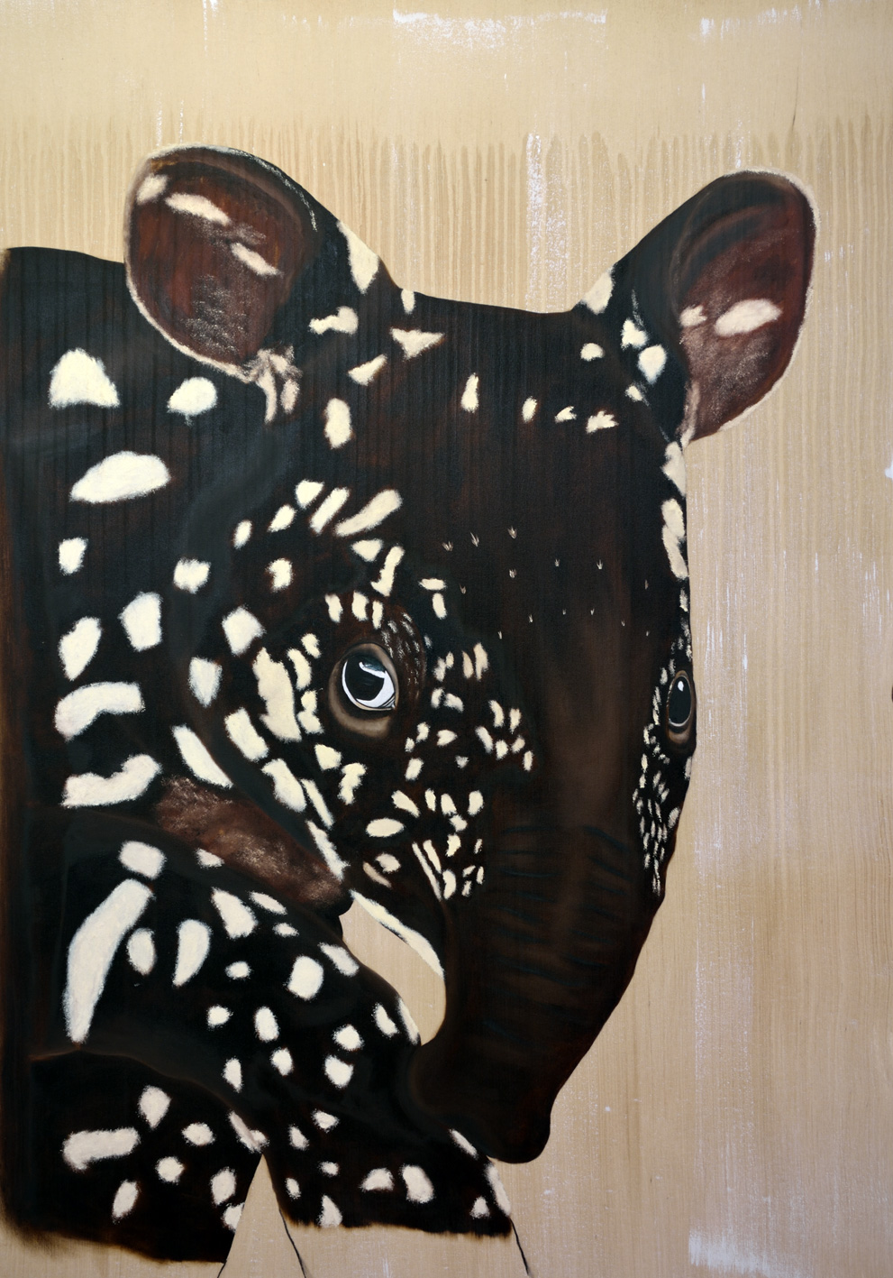 TAPIRUS tapir-tapirus Thierry Bisch painter animals painting art decoration hotel design interior luxury nature biodiversity conservation