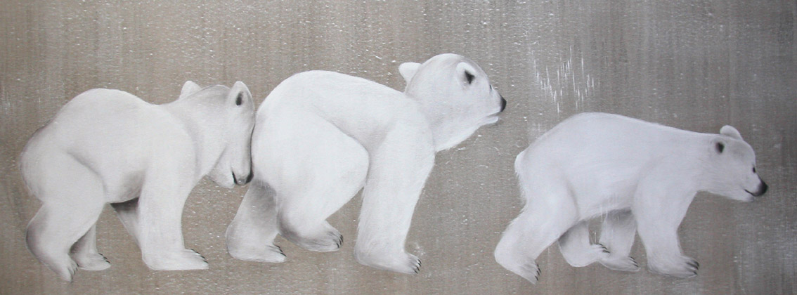 fr vignettes Peinture animaliere ourson polaire ours blanc