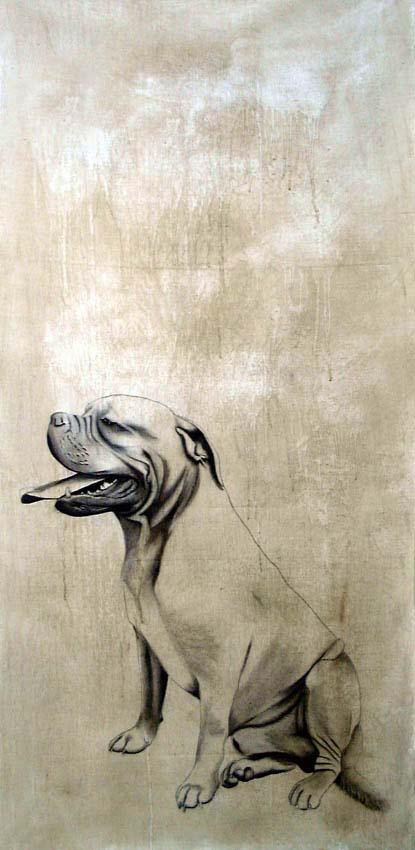 chien dogue de bordeaux chien dogue de bordeaux animal familier thierry bisch artiste peintre. Black Bedroom Furniture Sets. Home Design Ideas