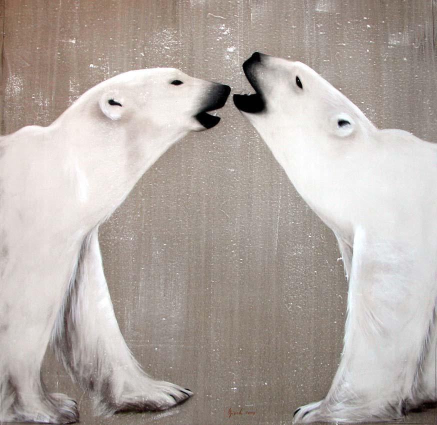 fr vignettes Peinture animaliere Ours polaire blanc