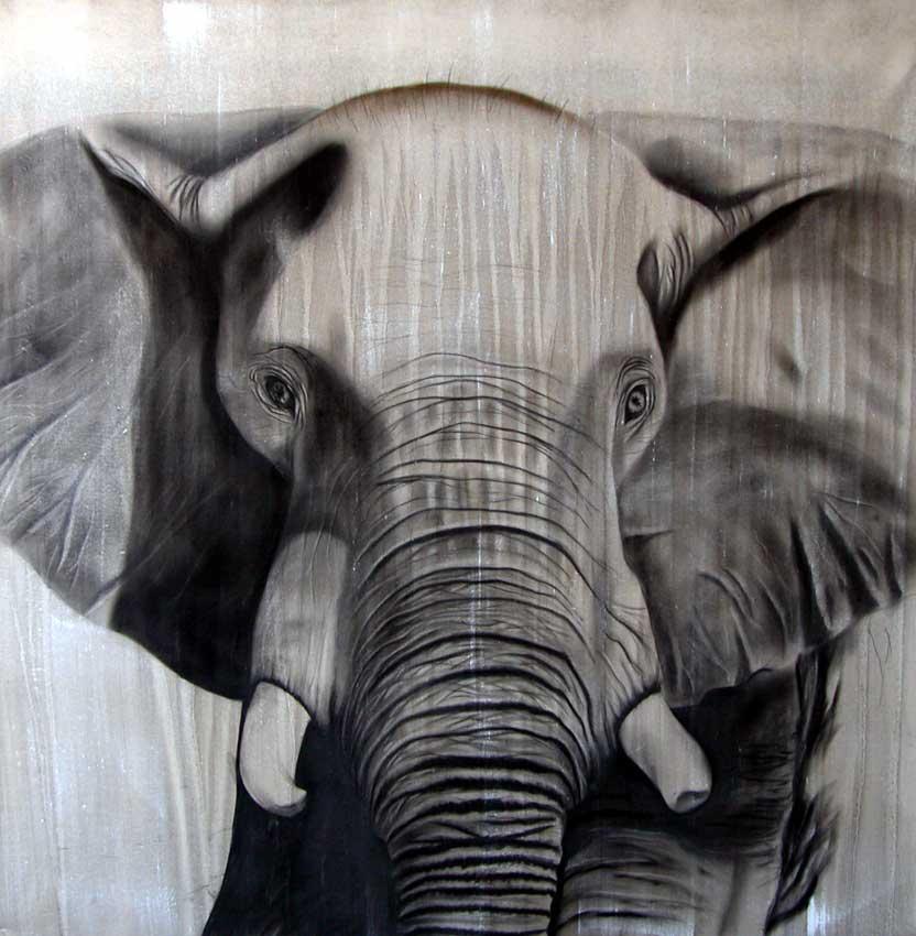 elephant 5 lephant elephant thierry bisch artiste peintre animaux esp ces menac es. Black Bedroom Furniture Sets. Home Design Ideas