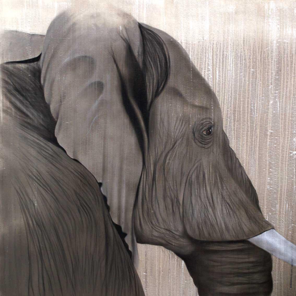 elephant 12 l phant thierry bisch artiste peintre animaux esp ces menac es. Black Bedroom Furniture Sets. Home Design Ideas