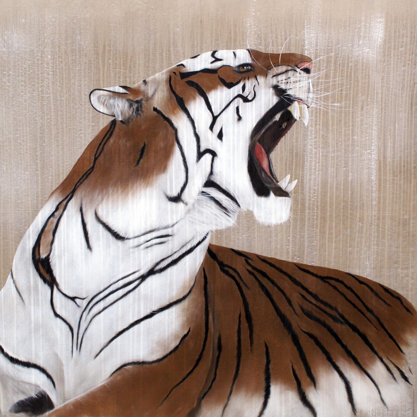 Panthera tigris tigre thierry bisch artiste peintre for Bibelot de decoration