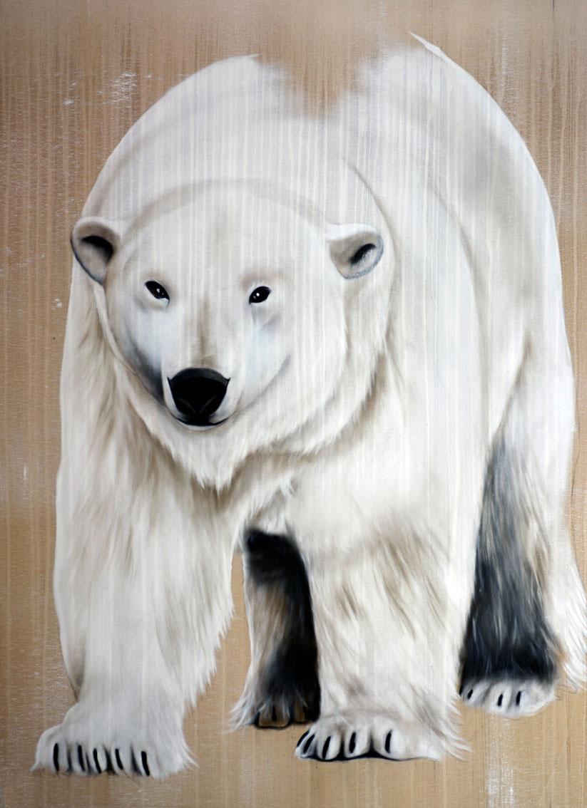 fr vignettes Peinture animaliere ours polaire