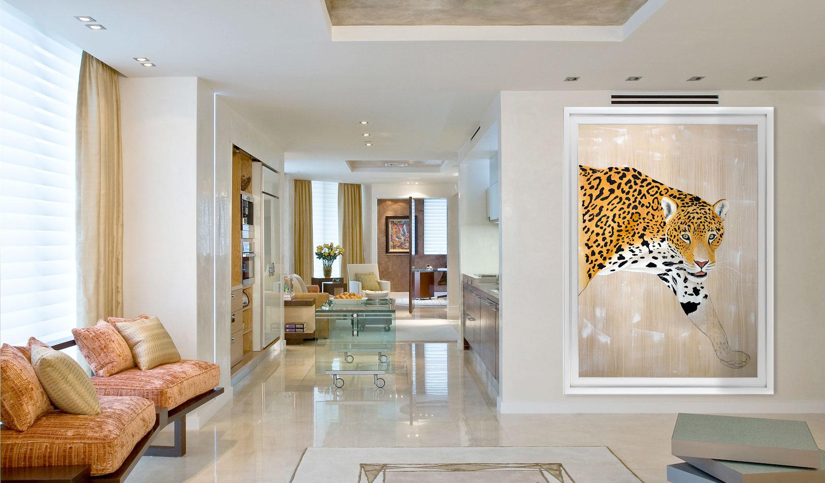 panthera onca jaguar panthera onca panth re d co d coration toile imprim e grand format b che. Black Bedroom Furniture Sets. Home Design Ideas