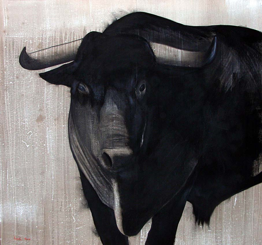 iselito taureau thierry bisch artiste peintre animaux esp ces menac es. Black Bedroom Furniture Sets. Home Design Ideas