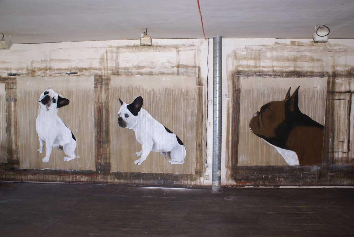 bulldogs bouledogue fran ais chien bouledogue animal familier thierry bisch artiste peintre. Black Bedroom Furniture Sets. Home Design Ideas