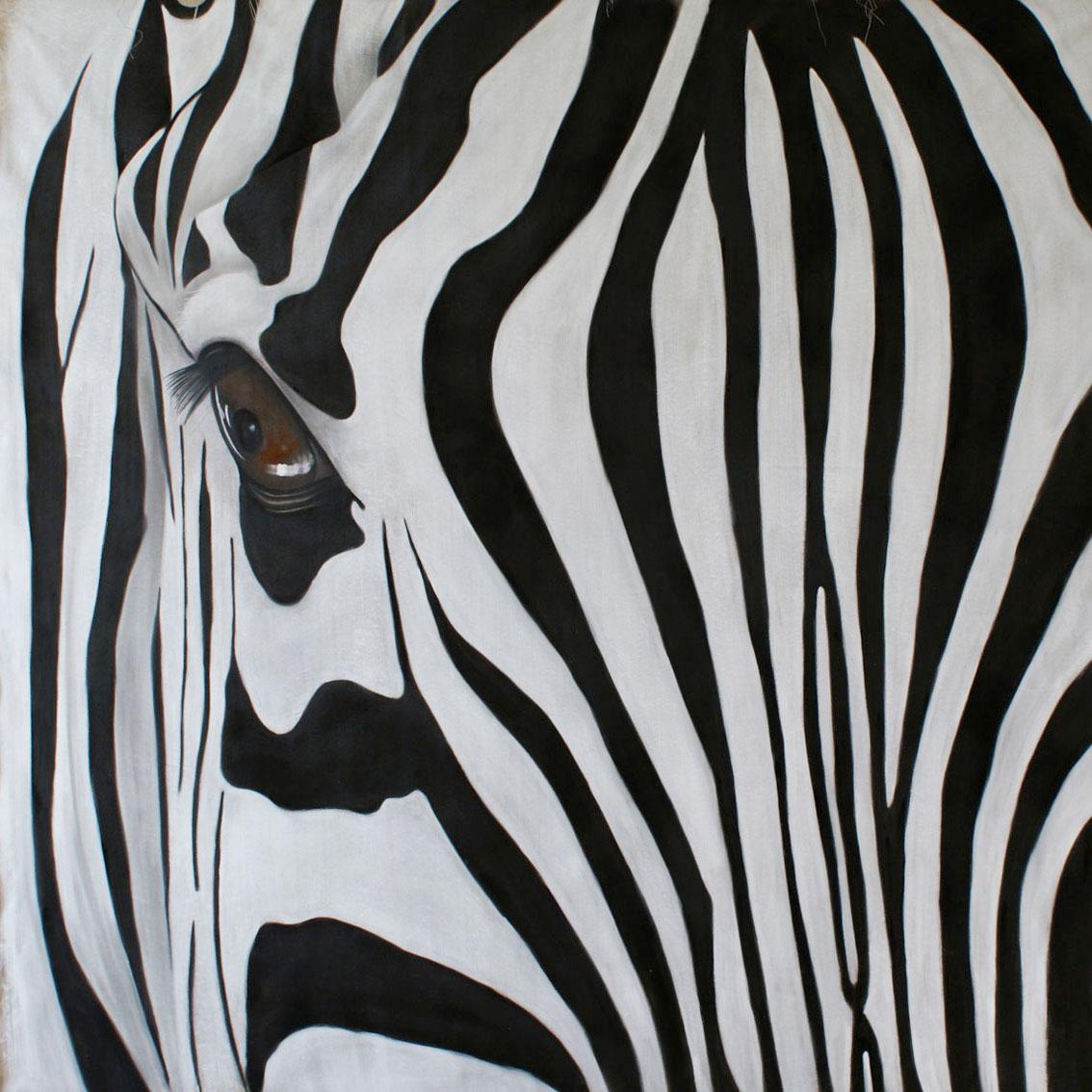 zebre z bre zebre thierry bisch artiste peintre animaux esp ces menac es. Black Bedroom Furniture Sets. Home Design Ideas