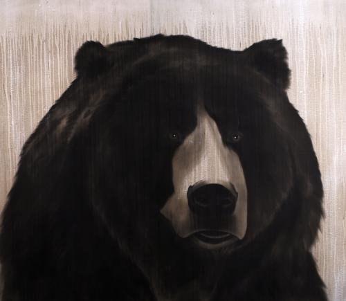 Bear Thierry Bisch painter animals painting art decoration hotel design interior luxury nature biodiversity conservation