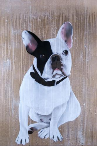 bulldog,french bulldog,frenchy pet Thierry Bisch painter animals painting art decoration hotel design interior luxury nature biodiversity conservation