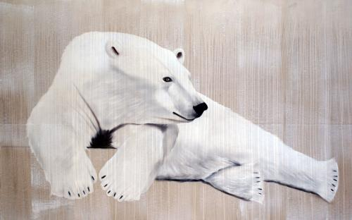 Polar bear Thierry Bisch painter animals painting art decoration hotel design interior luxury nature biodiversity conservation
