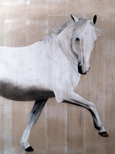 arabian thoroughbred horse Thierry Bisch painter animals painting art decoration hotel design interior luxury nature biodiversity conservation