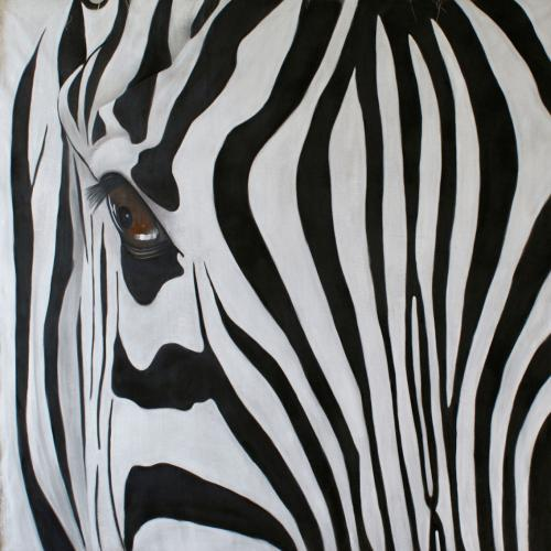 zebra Thierry Bisch painter animals painting art decoration hotel design interior luxury nature biodiversity conservation