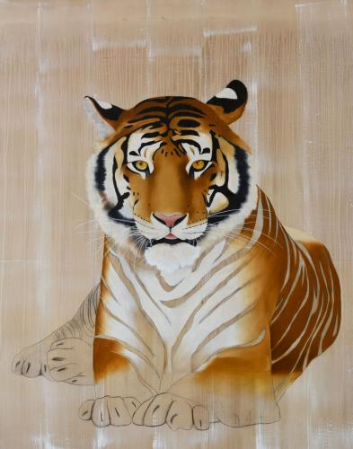 panthera tigris tiger royal delete threatened endangered extinction thierry bisch Thierry Bisch painter animals painting art decoration hotel design interior luxury nature biodiversity conservation