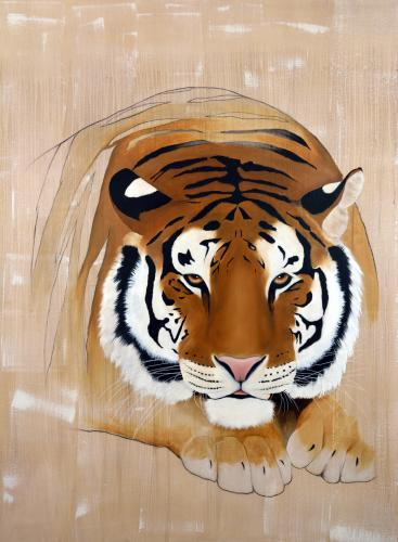 tiger panthera tigris delete threatened endangered extinction Thierry Bisch painter animals painting art decoration hotel design interior luxury nature biodiversity conservation