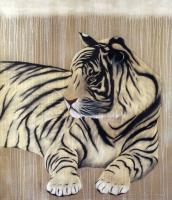 Panthera tigris tiger Thierry Bisch Contemporary painter animals painting art  nature biodiversity conservation