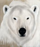 POLAR BEAR-1 POLAR-BEAR Thierry Bisch painter animals painting art decoration hotel design interior luxury nature biodiversity conservation