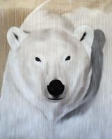 POLAR BEAR-2 POLAR-BEAR- Thierry Bisch painter animals painting art decoration hotel design interior luxury nature biodiversity conservation