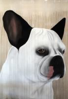BABA 04 French-bulldog-dog-pet Thierry Bisch painter animals painting art decoration hotel design interior luxury nature biodiversity conservation