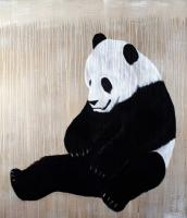 Panda Panda-bear Thierry Bisch painter animals painting art decoration hotel design interior luxury nature biodiversity conservation