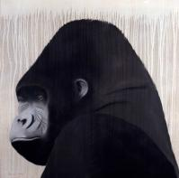 Gorille gorilla-ape-monkey Thierry Bisch painter animals painting art decoration hotel design interior luxury nature biodiversity conservation