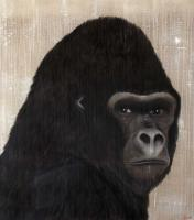 GORILLA - 6 gorilla-ape-monkey Thierry Bisch painter animals painting art decoration hotel design interior luxury nature biodiversity conservation
