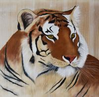 TIGER-3 tiger Thierry Bisch Contemporary painter animals painting art  nature biodiversity conservation