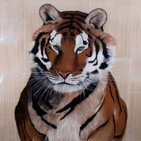 ROYAL TIGER tiger Thierry Bisch painter animals painting art decoration hotel design interior luxury nature biodiversity conservation