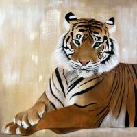 TIGER TIGER Thierry Bisch Contemporary painter animals painting art  nature biodiversity conservation